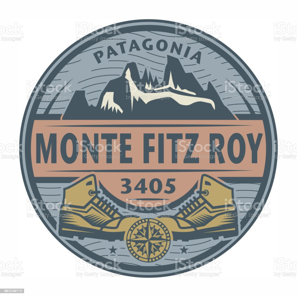 Stamp Or Emblem With Text Monte Fitz Roy Patagonia Stock Vector Art