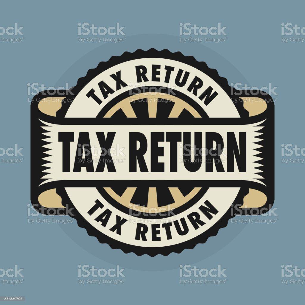 Stempel oder Emblem mit Text Steuererklärung – Vektorgrafik