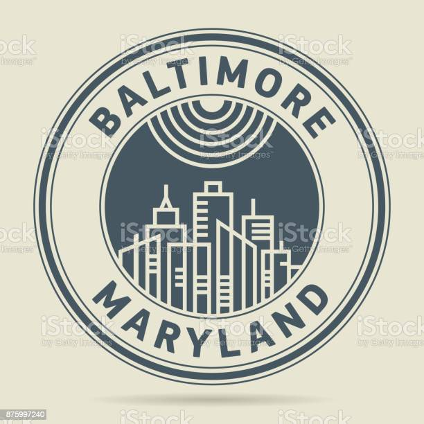 Stamp or label with text baltimore maryland vector id875997240?b=1&k=6&m=875997240&s=612x612&h=qgc9jfgrobuxu9ab quawskiurhtdsbpbca0mdms19i=