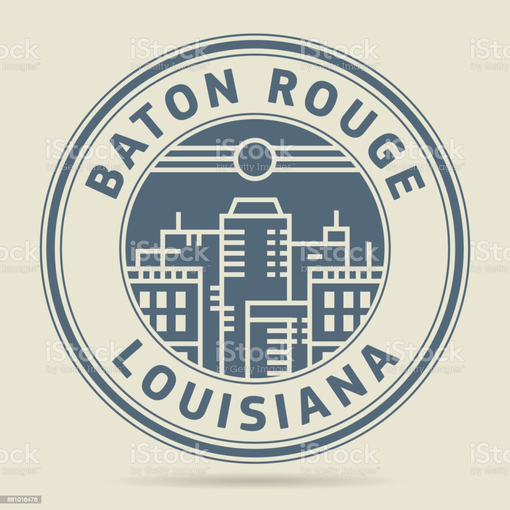 Stamp or label with text Baton Rouge, Louisiana vector art illustration