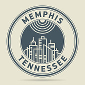 Stamp or label with text Memphis, Tennessee written inside, vector illustration