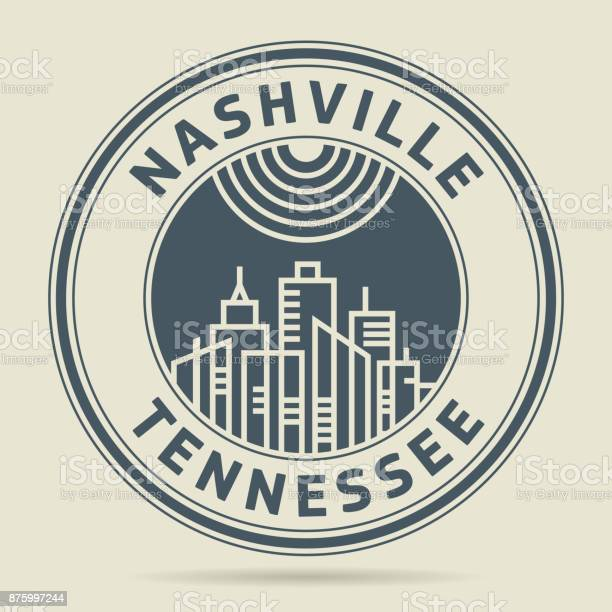 Stamp or label with text nashville tennessee vector id875997244?b=1&k=6&m=875997244&s=612x612&h=xe 0aonodg hua2qkle0boefuxkegf78  iz0v pl7k=