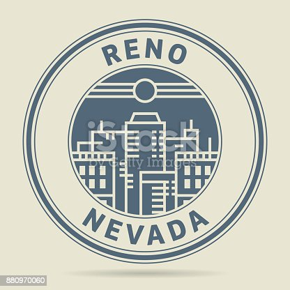 istock Stamp or label with text Reno, Nevada 880970060