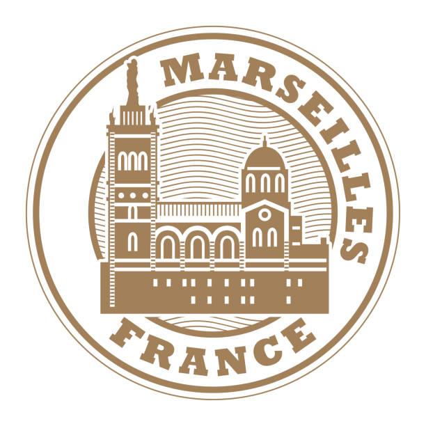 stockillustraties, clipart, cartoons en iconen met stempel of label met woorden marseille, frankrijk - marseille