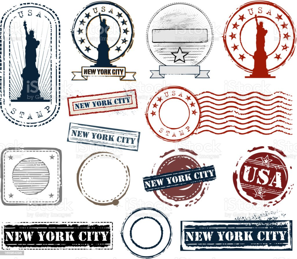 stamp set royalty-free stock vector art