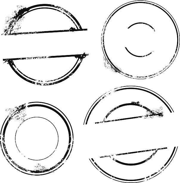 pieczęć zestaw-wektor pieczęć bez tekstu - pieczęć znaczek stock illustrations