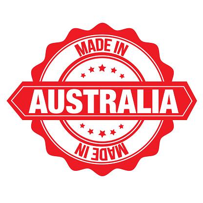 Stamp sticker Australia