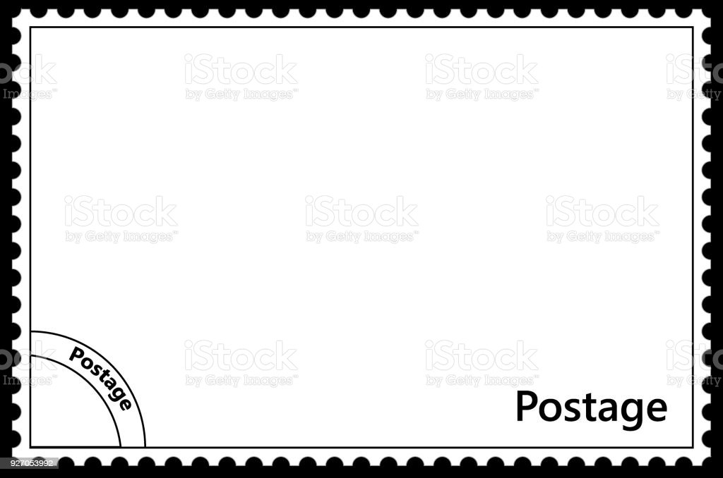 A Stamp Template With A Frame Simple Perforation And A Blanking