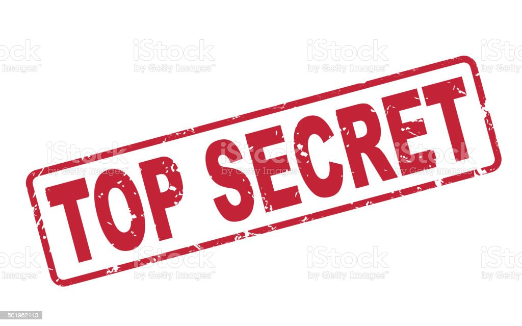 Stamp Top Secret With Red Text On White Stock Vector Art ...