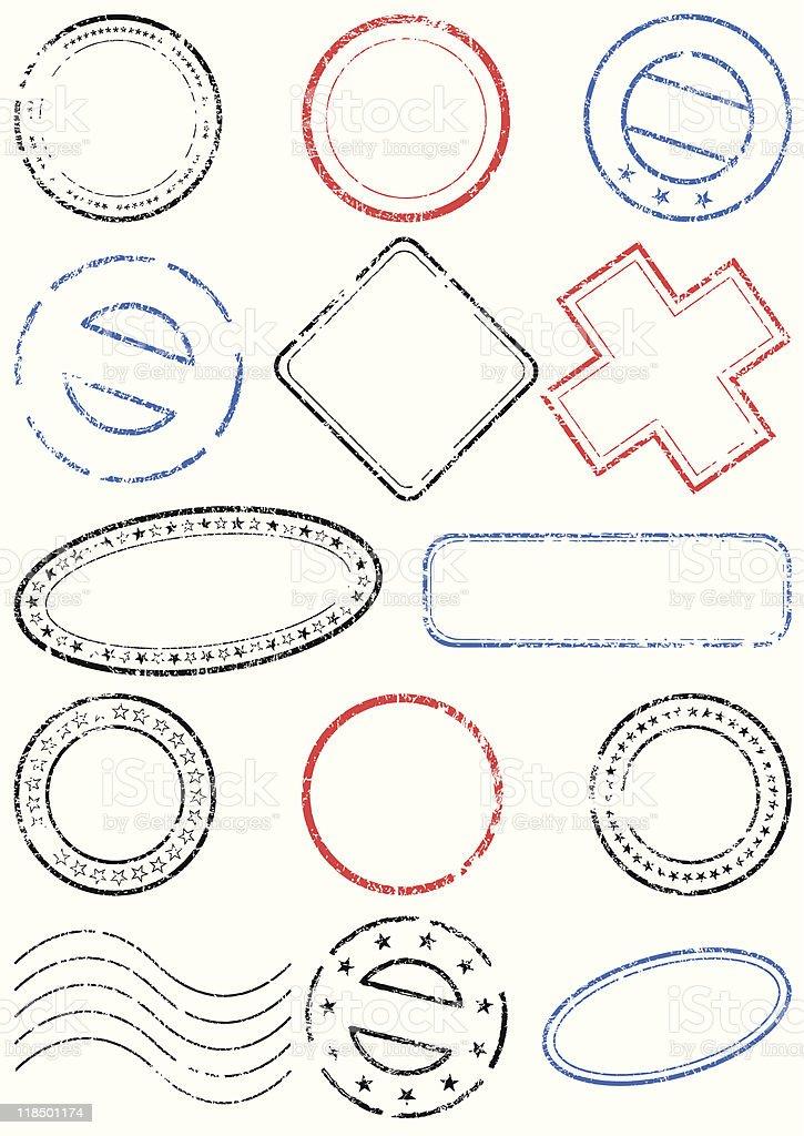 Stamp vector illustration set royalty-free stock vector art
