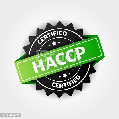 HACCP stamp vector isolated on white background