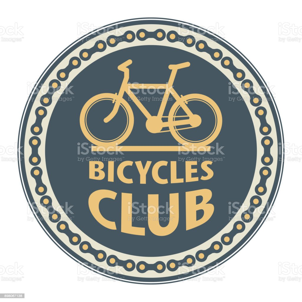Stamp with bicycle - Bicycles Club