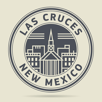 Stamp with text Las Cruces, New Mexico
