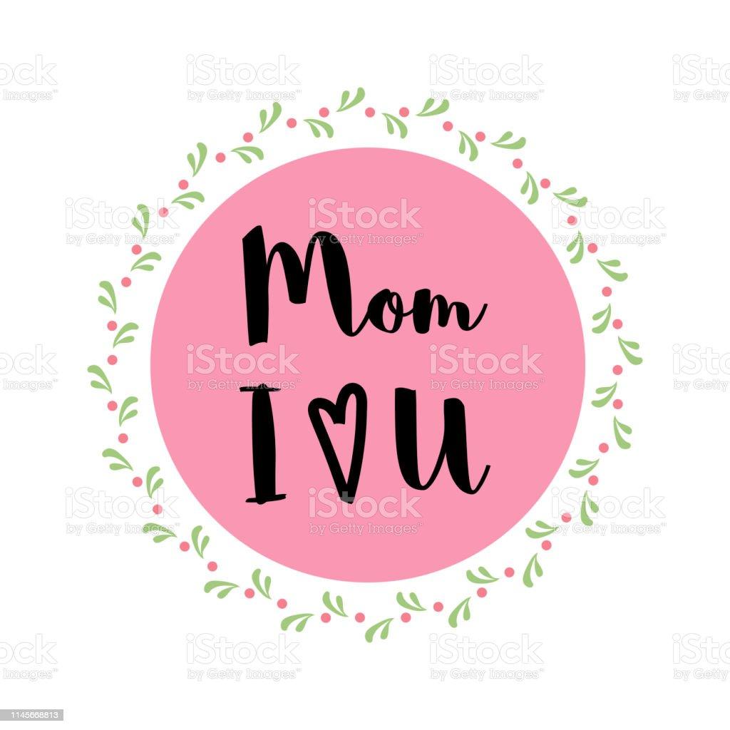 Timbre Avec Texte Amour Vous Maman Pour Célébration De Fête