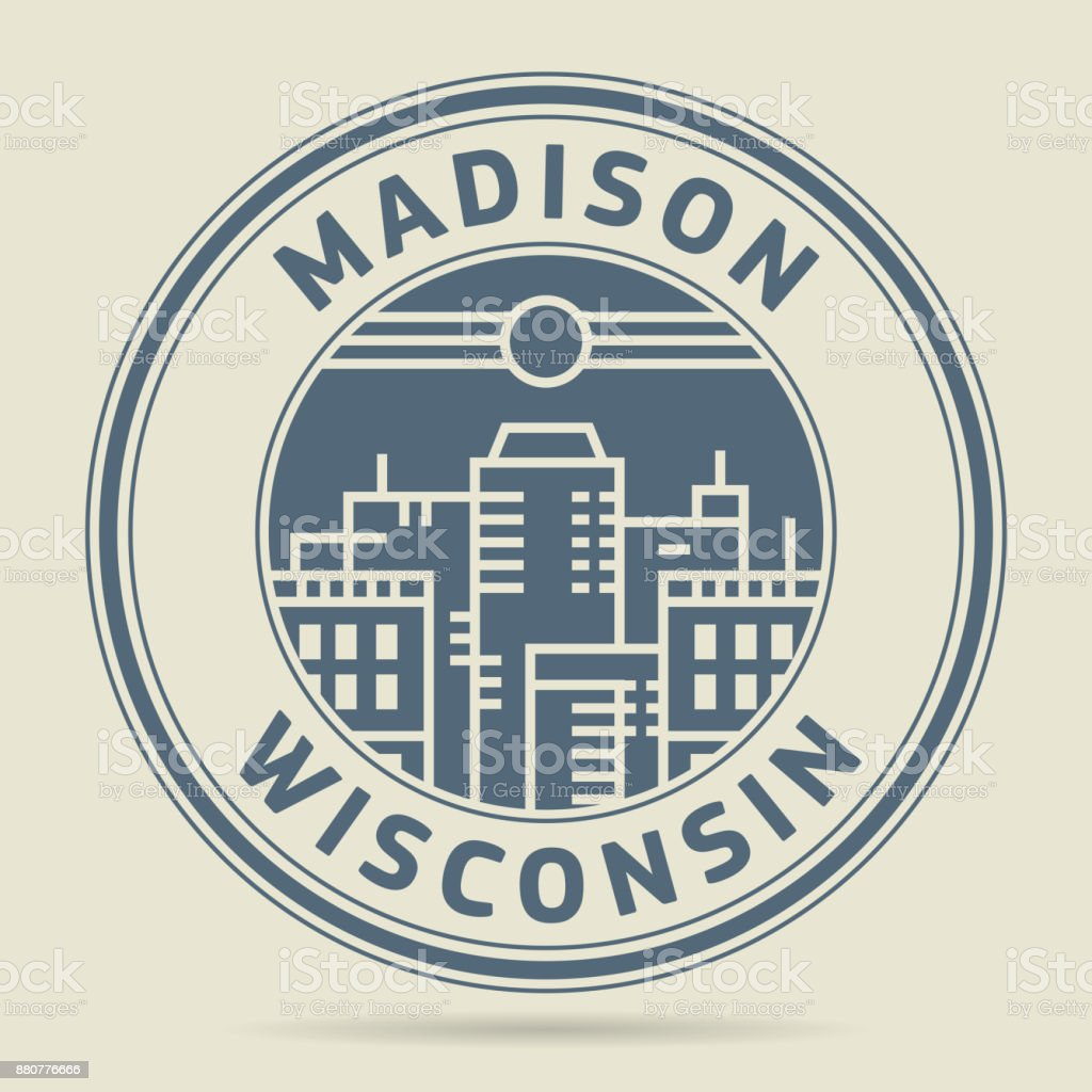 Stamp With Text Madison Wisconsin Royalty Free Stock Vector Art