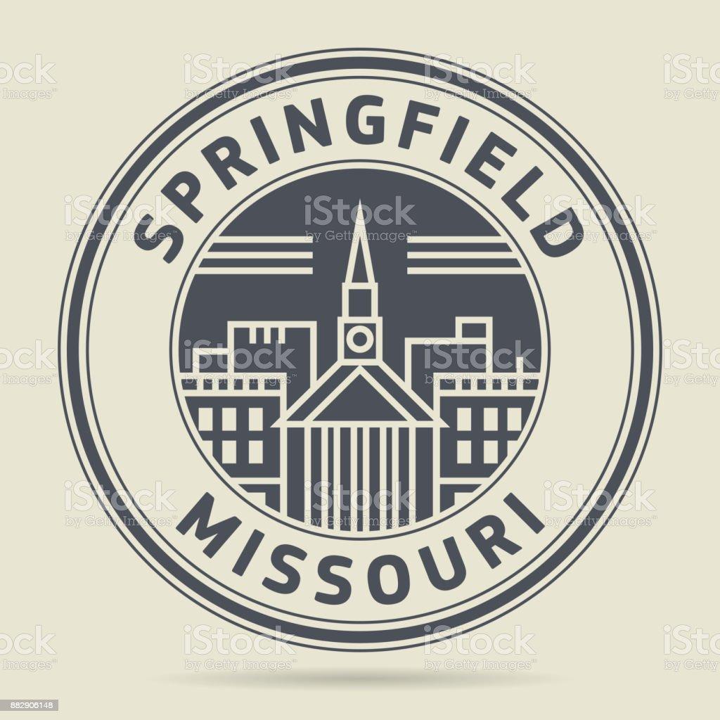 Stamp with text Springfield, Missouri vector art illustration