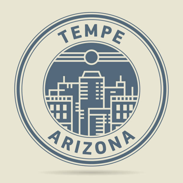 Stamp with text Tempe, Arizona Stamp or label with text Tempe, Arizona written inside, vector illustration temps stock illustrations