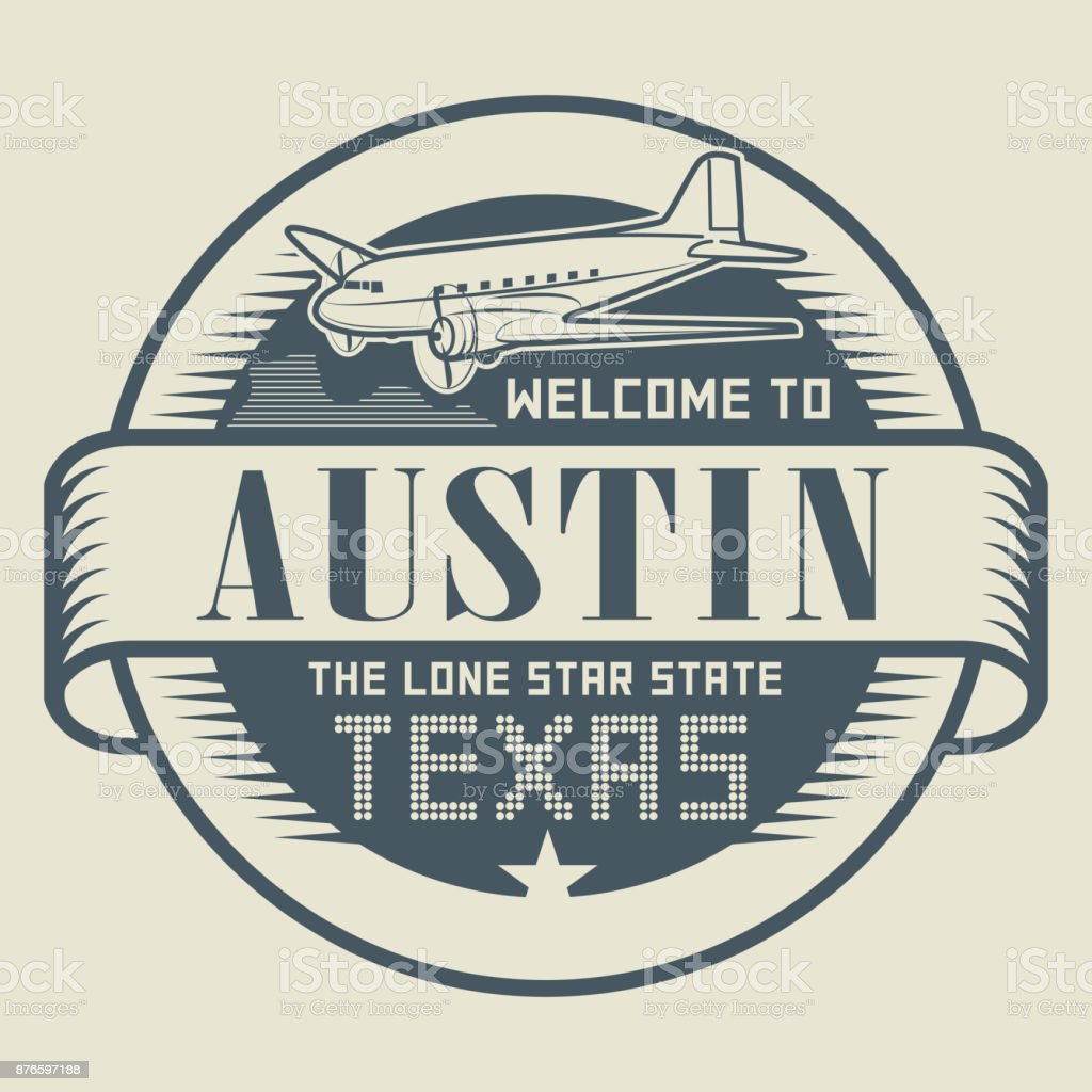 Stamp with text Welcome to Austin, Texas vector art illustration