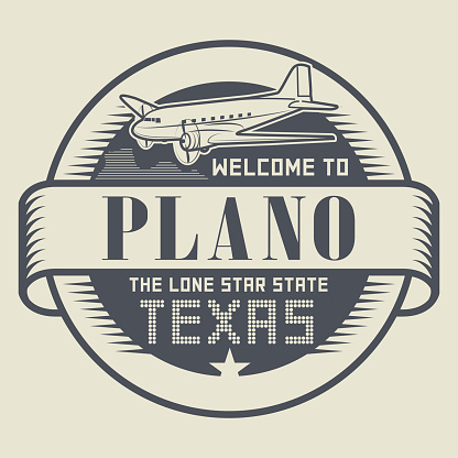Stamp with text Welcome to Plano, Texas
