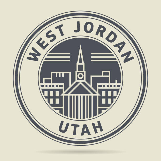 Stamp With Text West Jordan Utah Stock Vector Art More Images Of