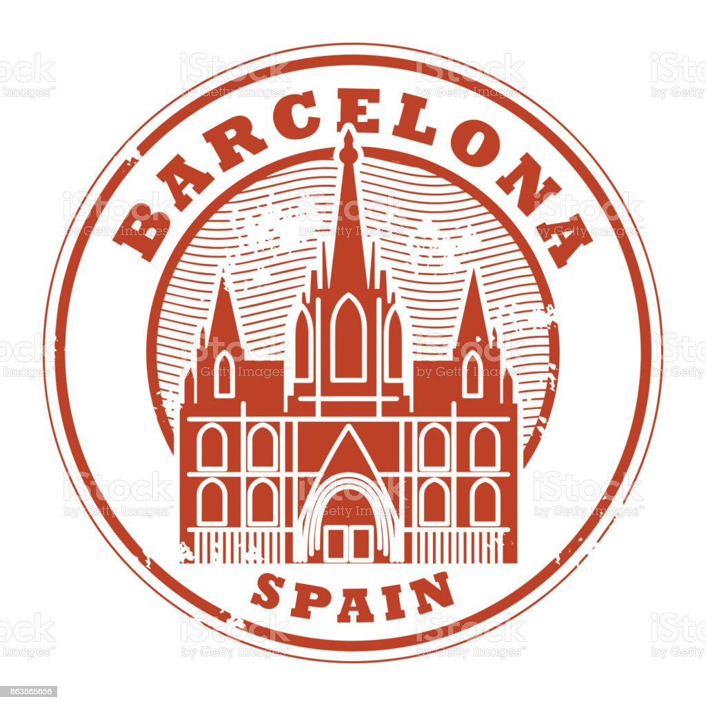 Stamp With Words Barcelona Spain Royalty Free Stock Vector