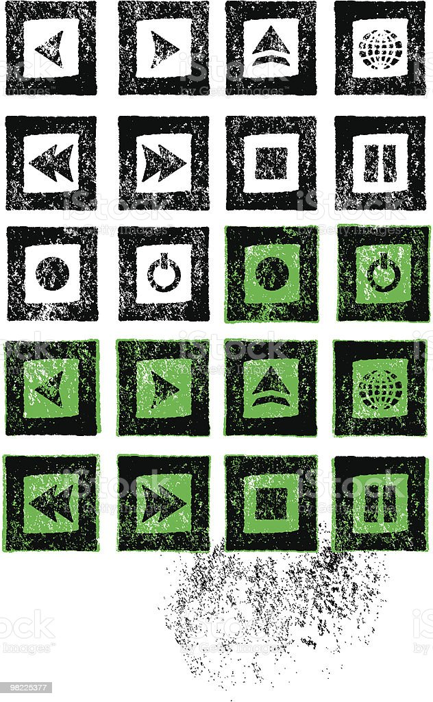 Stamped Music Icon Set royalty-free stamped music icon set stock vector art & more images of black and white