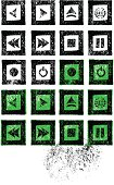 Stamped Music Icon Set