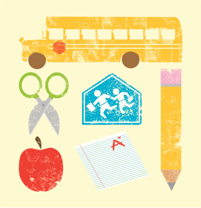 Stamped School Icons
