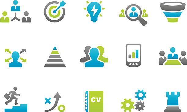 Stampico icônes de stratégie d'entreprise - Illustration vectorielle