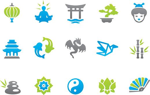 Stampico icons - Asia