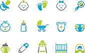 71 set of the Stampico collection - Baby and Baby Goods icons.