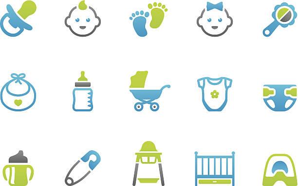 stampico icon-baby - möbelfüße stock-grafiken, -clipart, -cartoons und -symbole