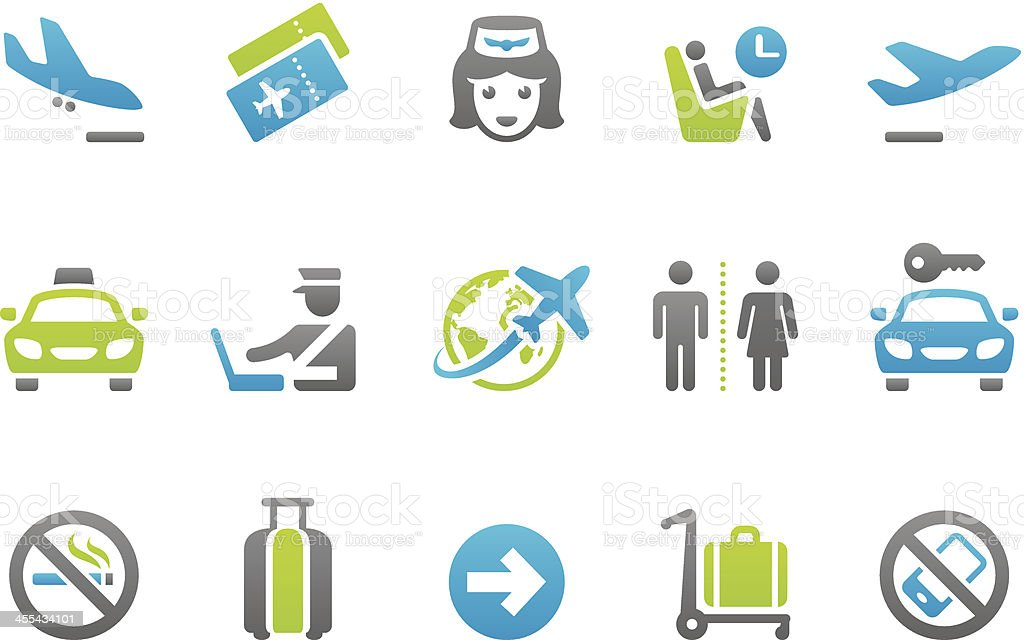 Stampico icons - Business Travel royalty-free stock vector art