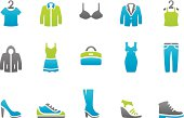51 set of the Stampico collection - Clothing and footwear icons.