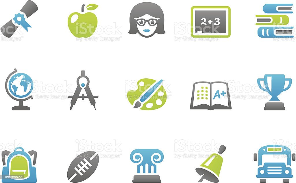 Stampico icons - Education royalty-free stock vector art