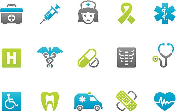 ilustrações, clipart, desenhos animados e ícones de stampico ícones de saúde e medicina - enfermeira