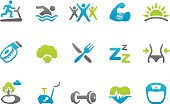 83 set of the Stampico collection - Healthy Lifestyle icons.