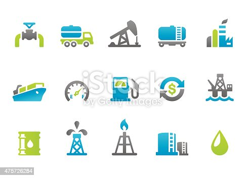 94 set of the Stampico collection -  Gas and Oil Industry icons.