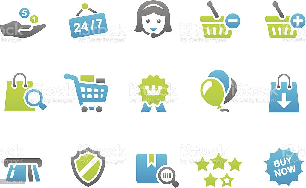 Stampico icons - Online Shopping royalty-free stock vector art