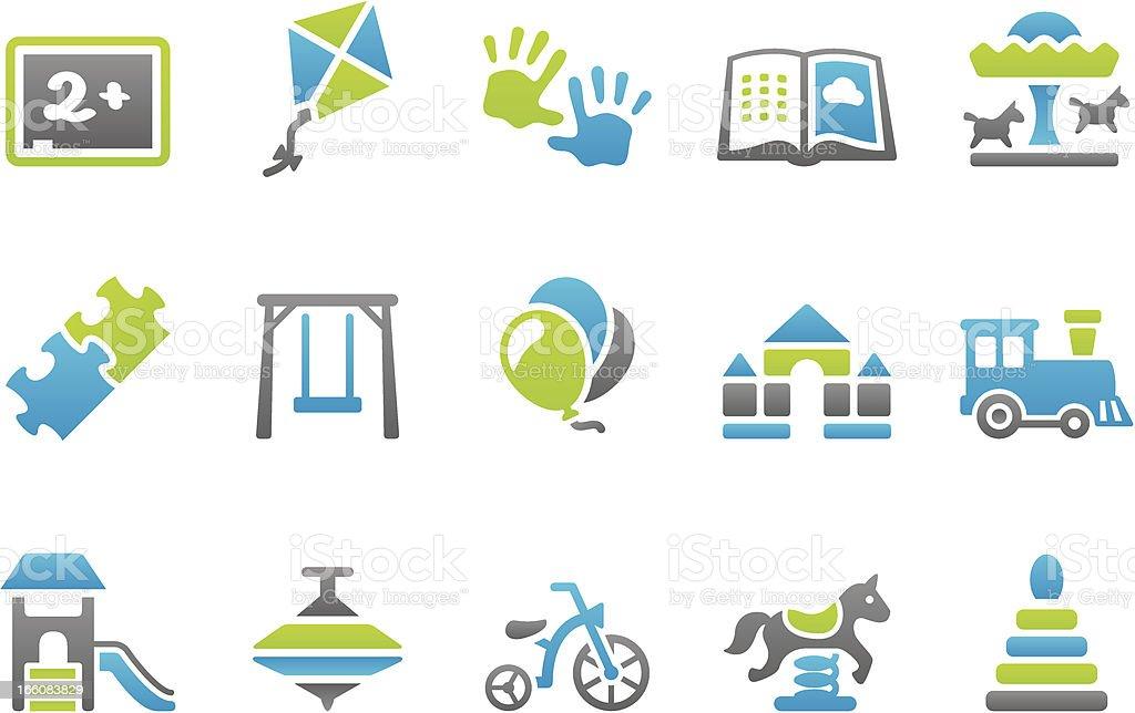 Stampico icons - Preschool royalty-free stock vector art