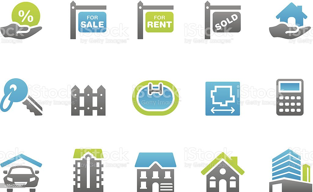 Stampico icons - Real Estate vector art illustration