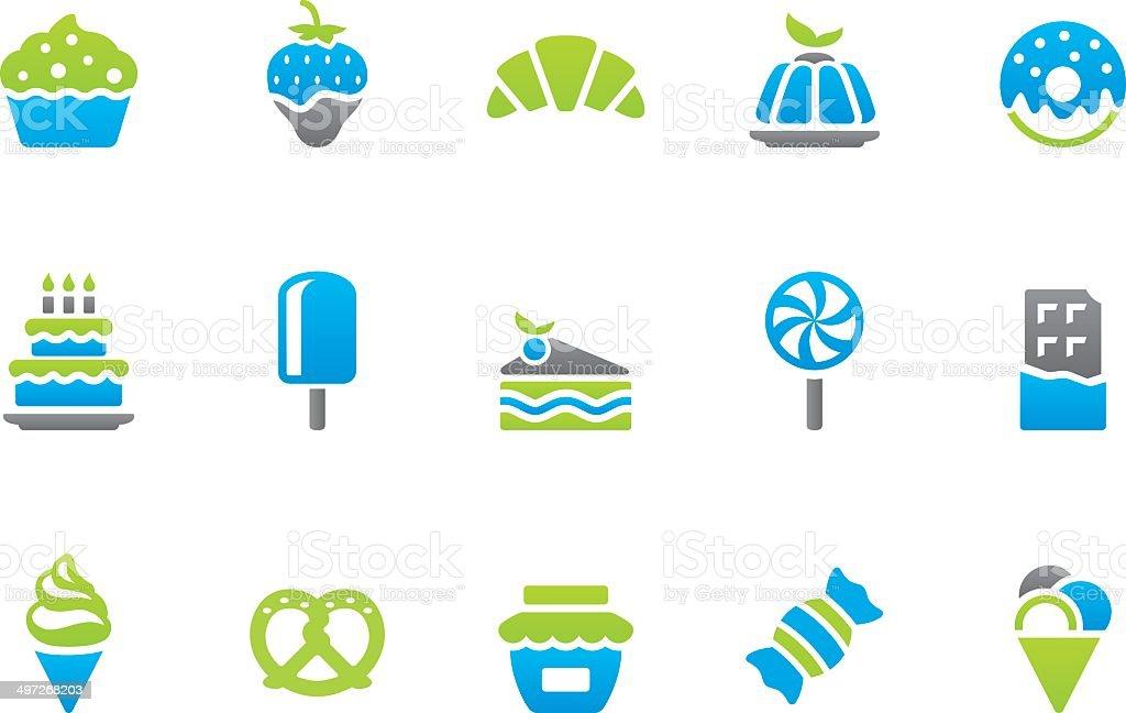 Stampico icons - Sweet Food vector art illustration