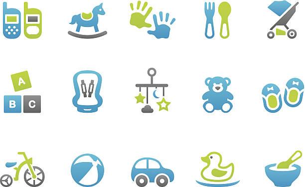 ilustrações, clipart, desenhos animados e ícones de stampico ícones-toy - mobile
