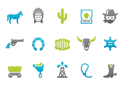 Stampico icons - Wild West and American Culture