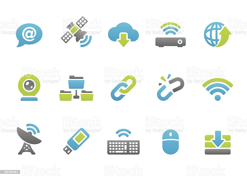 Stampico icons - Wireless Internet royalty-free stock vector art