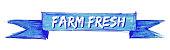 farm fresh hand painted ribbon sign