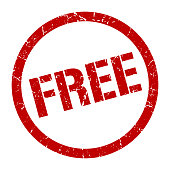free red round stamp