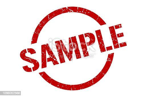 sample red round stamp