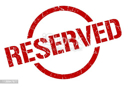 reserved red round stamp