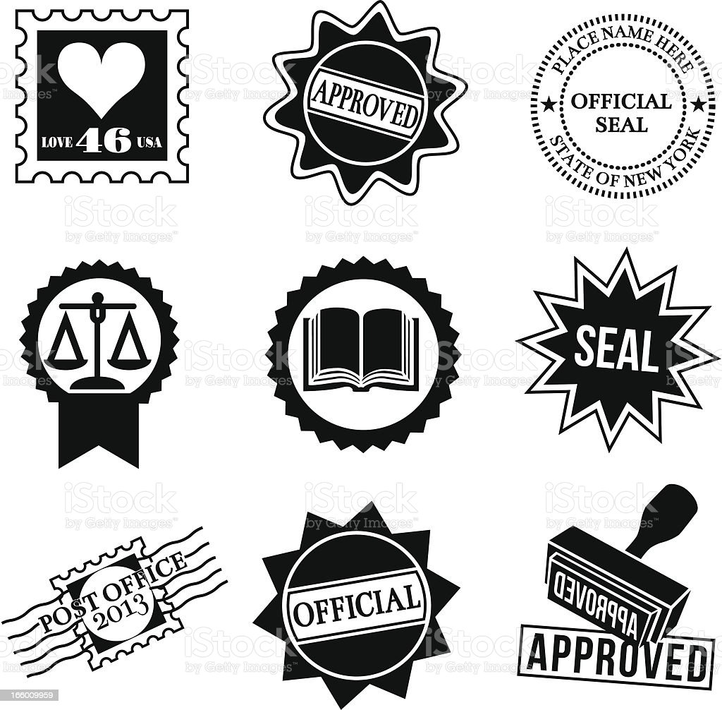 stamps and seals royalty-free stock vector art